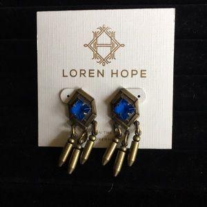 Loren Hope Cobalt Hex Earring